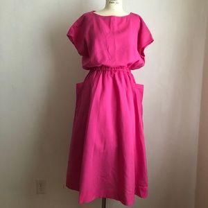 Vintage dress pink shirt dress style X-Large